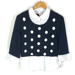 Chicos Women Polka Dot Cardigan Sweater Shirt 1154